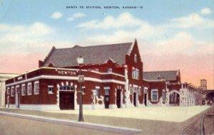 dated Aug. 11, 1945 & June 1956 SANTA FE STATION, NEWTON, KANSAS