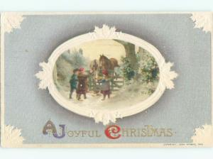 Divided-Back CHRISTMAS SCENE Great Postcard W8770