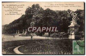 Postcard Old St Germain en Laye Rond Point de la Terrasse The Rosarium Leaf a...