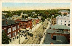 VT - Burlington. Main Street looking east from Hotel Vermont