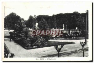 Old Postcard Metz L & # 39Esplanade