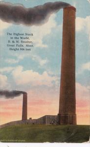 Montana Great Falls B & M Smelter Highest Stack In The World