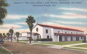 Florida Hollywood Church Of The Little Flower With Rectory Auditorium And Sch...
