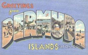 Bermuda, Islands Large Letter Town Unused