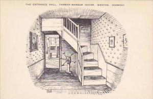 Vermont Weston The Entrance Hall Farrar Mansur House Artvue