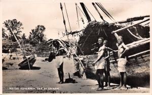 B86354 native fishermen dar es salaam types folklore ship tanzania
