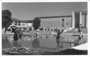 Bloomfield Hills Michigan~Cranbrook Academy of Art-Pond by Buildings~RPPC