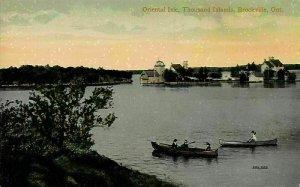Canada Quebec Oriental isle Thousand Islands Brockville Boats Postcard