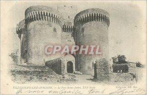 Old Postcard VILLENEUE-LEZ-AVIGNON-Fort Saint-André XVI century