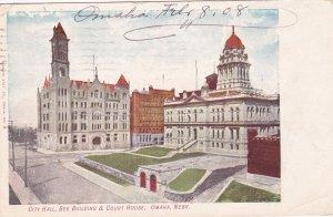 City Hall , Bee Building & Court House , OMAHA , Nebraska ; PU-1908