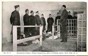 New Jersey Fort Dix Reception Center Final Inspection After Clothing Issue