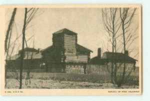 Fort Dearborn Replica Chicago Expo Century of Progress B&W Photo 1933 Postcard