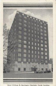 CHARLOTTE , North Carolina , 1941 ; Hotel William R. Barringer