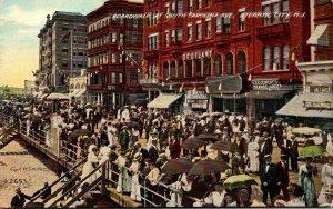 New Jersey Atlantic City Boardwalk At South Carolina Avenue 1912