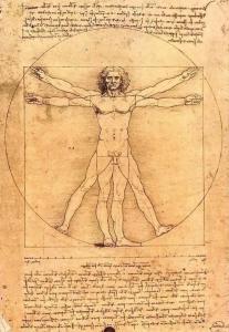 Leonardo Schema delle Proporzioni del Corpo, Umano dal De Architectura Vitruvio