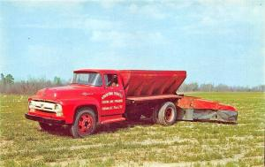 Goldsboro NC W. C. Bone Custom Lime Spreading Services Truck Postcard