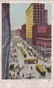 Second Avenue And Alaska Building Seattle Washington 1907