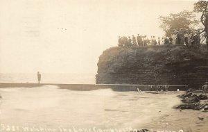 F67/ Lorain Ohio RPPC Postcard 1911 Leiter 103rd O.V.I. Camp Lake Erie