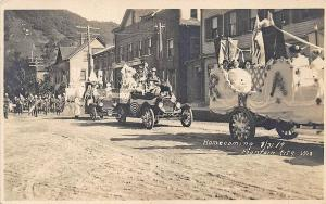 Fountain City WI Homecoming Old Cars 8-31-1919 RPPC Postcard