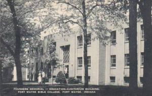 Indiana Fort Wayne Founders Memoral Education Auditorum BuildingFort Wayne Bi...