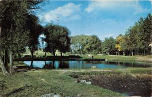 WOODRUFF WISCONSIN FISH HATCHERY POSTCARD 1957