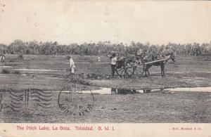 The Pitch Lake, La Brea., TRINIDAD , PU-1908