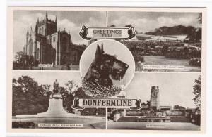 Greetings From Dunfermline Scotland Multi View #1 postcard