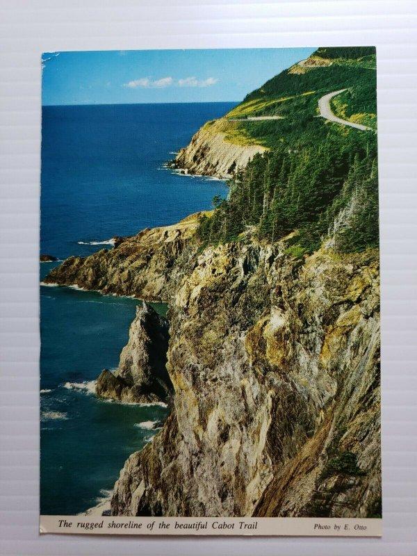 Vintage Postcard Cabot Trail Cape Breton Nova Scotia Canada 1990  392