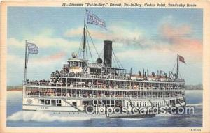 Steamer Put In Bay Cedar Point Ship Postcard Post Card Cedar Point Postcard P...