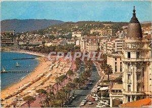 Modern Postcard Cannes Croisette the Promenade General view