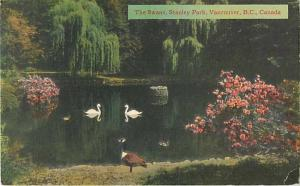 The Swans, Stanley Park Vancouver BC British Columbia Linen