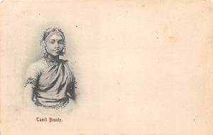 Sri Lanka Ceylon, Tamil Beauty, Traditional Native Woman, Folklore 1899