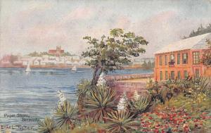 Paget Shore Bermuda Water Front Vintage Postcard JE229122