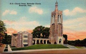 Tennessee Knoxville Methodist Church Church Street 1947 Curteich