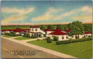 Woodward, Oklahoma Postcard CADDEL MOTOR COURTS Highway 270 Roadside Linen
