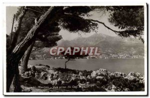 Old Postcard Menton Vue Prize Cap Martin