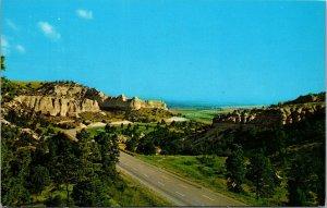 Nebraska's Wildcat Hills between Kimball and Gering Nebraska Postcard