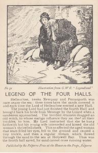 Hellenclose Newquay Perrenporth Polperro Mythology Old Songcard Story Postcard