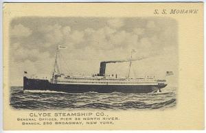 S. S. Mohawk Clyde Steamship Company New York NY Albertype Postcard