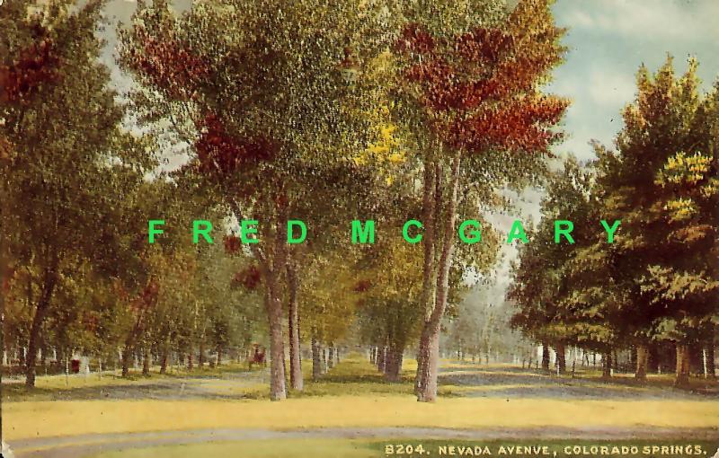1910 Colorado Springs CO PC: Nevada Avenue, Unused