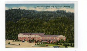circa 1940 postcard, New Riverside Hotel, Gatlinburg, Tennessee