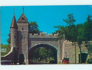 Pre-1980 TOWN VIEW SCENE Porte St-Louis Quebec QC p9929