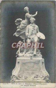 Postcard Modern Salon 1907 Monument to Honore Fragonard by Auguste Maillard
