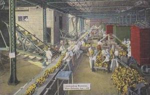 Louisiana New Orleans Unloading Bananas