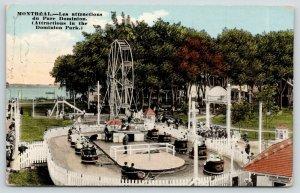Montreal PQ Ferris Wheel~Triplet? Girls~Kiddie Car Ride~Playground~Dominion 1910