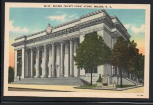 North Carolina colour PC Wilson County Court House Wilson unused