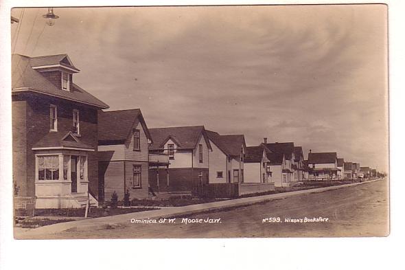 Ominica St, Moose Jaw Saskatchewan, Real Photo Nixon's Bookstore