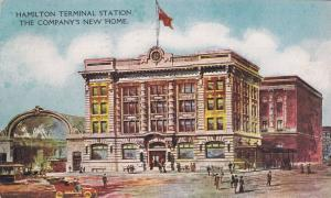 HAMILTON , Ontario , PU-1908 ; New Terminal Station (Electric Trolly cars)