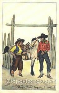 Ranch Days Western Cowboy, Cowgirl Postcard Postcards  Ranch Days