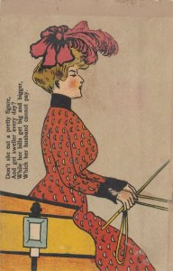 Woman driving a carriage, 1901-07; Poem